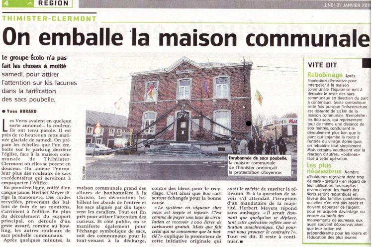 Action Sacs Poubelles : Revue de Presse